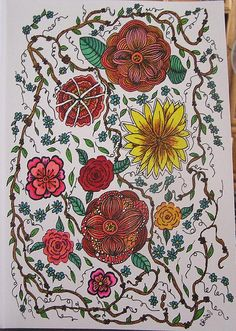 Tangled vines and flowers zendoodle