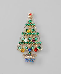 Take a look at this Gold Christmas Tree Brooch today!