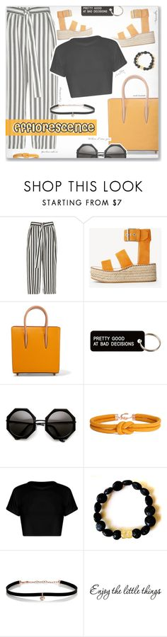 """""""- Feeling Efflorescence -"""" by fashionablemy ❤ liked on Polyvore featuring River Island, rag & bone, Christian Louboutin, Various Projects, Carbon & Hyde, WALL, orange, blackandwhite, edgy and efflorescence"""