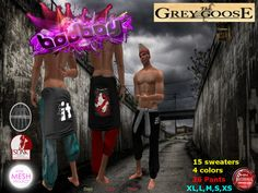 (WEAR ME) Bad Boy Jogger & Sweater secondlife, sl, avatar, men, secondlife fashion lifestyle