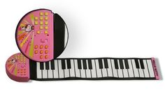 37-Key Rollable Rubber Keyboard - Hello Kitty Pink Rock N' Rollin Piano by Hello Kitty. $62.38. 37-Key Rollable Rubber Keyboard. With 8 Rhythm Selectors, 8 Instrument Selectors leave your child to lead the band!. Power OFF/ON/LOW/HI Switch , Auto Power Off to Save Battery Life. 3 AA Batteries required (NOT INCLUDED). Tempo UP/DOWN function, Includes DEMO SONGS for your child to play along with!. Hello Kitty Pink Rock N' Rollin PianoWatch your children be entertained for ho...