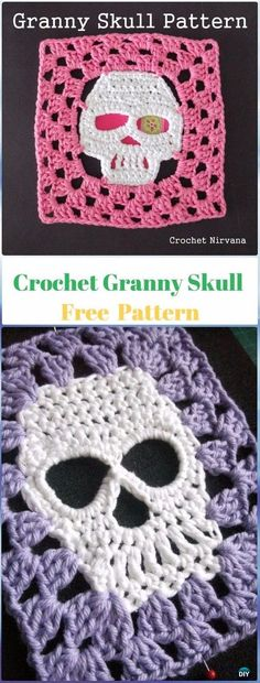 Crochet Granny Skull Free Pattern - Crochet Skull Ideas Free Patterns