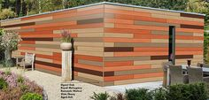 Trespa Pura NFC at Performance Panels Ltd. Perfect for enhancing and protecting the exterior of garages, sheds or pavilions. The wide choice of wood shades makes Trespa Pura NFC® a truly versatile style-enhancer to match any exterior.