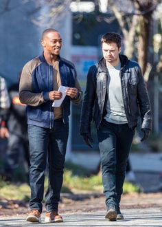Sebastian Stan & Anthony Mackie Continue Work on 'Falcon & The Winter Soldier' Marvel Actors, Marvel Characters, Marvel Avengers, Marvel Gems, Sebastian Stan, Anthony Mackie, Dc Movies, Marvel Series, Actress Christina