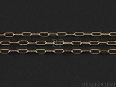 14k Gold Filled Fancy Cable Chain Elongated Oval by Beadspoint, $6.99