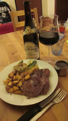 Florence Day 20! We finally opened the Tommasi and had it with a great home made meal!
