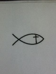Jesus fish tattoo on the back Of my neck