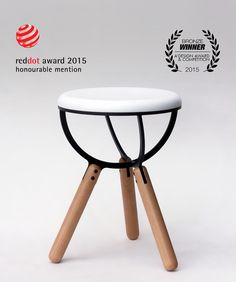 The Illusive Stool is inspired by the strange world of quantum mechanics and the illusive nature of subatomic particles.