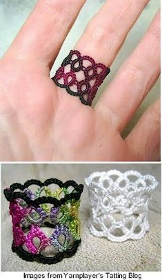 Tatted ring pattern