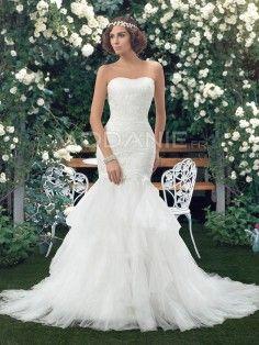 Magnifique robe de mariée sirène bustier col en coeur pas cher