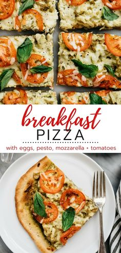 Pizza for breakfast? This Breakfast Pizza is so easy and tasty you're going to want it every morning! This delicious breakfast recipe is always a hit. Delicious Breakfast Recipes, Homemade Breakfast, Brunch Recipes, Breakfast Pizza, Sweet Breakfast, Egg Recipes, Whole Food Recipes, Pizza Recipes, Baked Blueberry Donuts