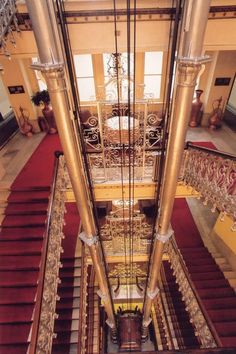 Pera Palace Hotel ... The first electric elevator in Istanbul which is still working and is just as it was ... beautiful!  I have ridden it!!!!