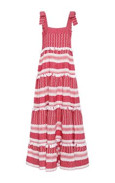 Cotton Amal Tiered Maxi Dress by DO DO BAR Now Available on Moda Operandi