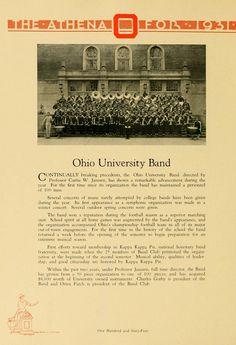 Athena yearbook, 1931. Ohio University Band. :: Ohio University Archives.
