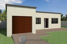 2 Room House Plan, Porch House Plans, Garage House Plans, House Roof, Facade House, Unique Small House Plans, Affordable House Plans, Simple House Plans, Flat Roof Design