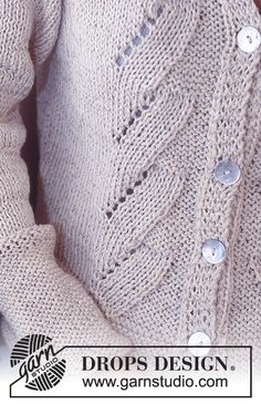 Chaqueta y jersey DROPS en Cotton Viscose y Safran Free Knitting Patterns For Women, Knitting Designs, Knit Patterns, Drops Design, Knit Vest Pattern, Crochet Woman, Cardigans For Women, Pulls, Cotton Viscose
