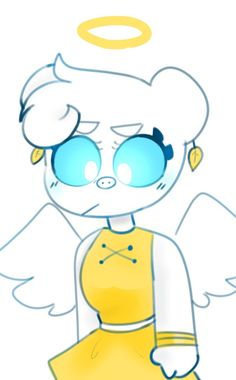 Angel Piggy Roblox Fanart Pig Character, Cute Anime Character, Images Murales, Wolf Spirit Animal, Roblox Pictures, Cute Piggies, Disney Jokes, Angel And Devil, Monster High Dolls