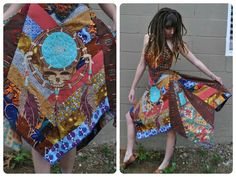 Araminta Muscaria Grateful Dead Dress Pigpen Patches Clothing