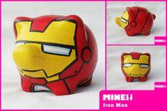 ALCANCIA IRON MAN Hulk, Pig Bank, Godchild, Party Time, Iron Man, Avengers, Pottery, Superhero, How To Make