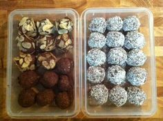 Chocolate coconut and almond balls