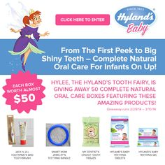 ****Enter NOW: FIFTY (50) Winners Get an Amazing Hyland's Prize Pack for Babies' Teeth Health!**** - Krazy Coupon Club