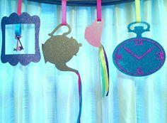 "Set of 4 Wonderland Adventure Tea Party 11.5"" layered decorations birthday party favor baby shower skeleton keys frame pot cup clock Alice in Wonderland theme party decor Tea time wedding gender reveal onederland princess retirement Mother's Day"