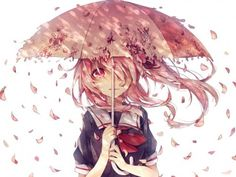 Imagen de mirai nikki, anime, and umbrella