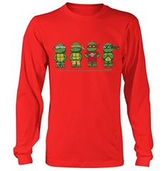 8-Bit TMGT Big Bang Theory TMNT Teenage Mutant Ninja Turtles Unisex long shirt @ niftywarehouse.com #NiftyWarehouse #Nerd #Geek #Entertainment #TV #Products