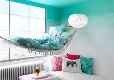Ombre painting effect starting at ceiling.