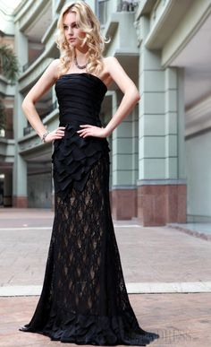 black lace dress www.ericdress.com. I'm in love. This couldn't be a more elegant dress.
