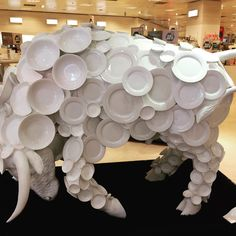 """BENTALLS DEPARTMENT STORE, Kingston upon Thames, UK, """"Bull in a China Shop"""", pinned by Ton van der Veer"""