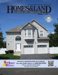 Browse real estate and homes for sale in New Jersey in the latest issue of Homes & Land of Middlesex NJ, Union County NJ, Mercer County NJ, www.HOMESandLAND.com