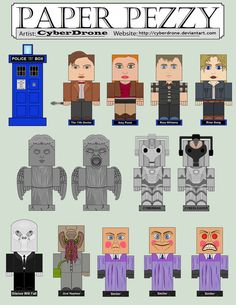 Paper Pezzy - Doctor Who by ~CyberDrone on deviantART (links in description)