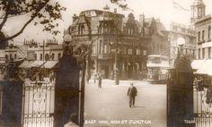 Junction of Barking Road & High Street, East Ham. 1932.