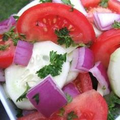 Cucumber, Tomato & Red Onion Salad