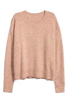 Oversized trui - Beige gemêleerd - DAMES | H&M NL