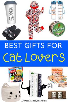 25 of the Best Gifts for Cat Lovers #Caturday #cats #giftguide #giftideas #catlovers
