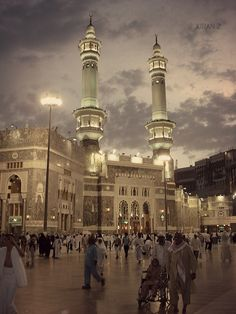 Makkah... the majestic Grand Mosque against beautiful skyline