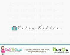 Photography Logo Design Photography by stylemesweetdesign on Etsy
