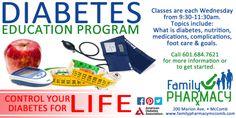 #Diabetes #Education Classes held weekly. #FamilyPharmacyofMcComb 601.684.7621