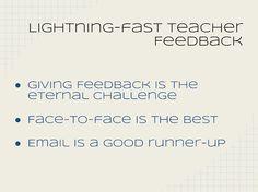 Lightening-Fast Teacher Feedback. The Digital Principal, Part 1 | Connected Principals