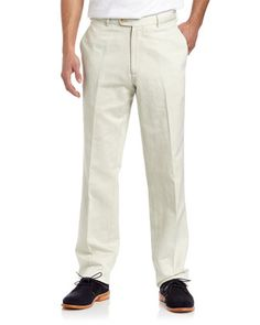 Raleigh Linen-Blend Pants, Stone by Peter Millar at Last Call by Neiman Marcus.