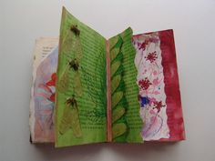 Altered Book page by Julie Shackson, via Flickr