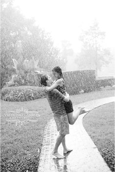 Engagement photos in the rain <3