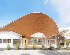 takashige yamashita tops small town nursery with a big roof in japan