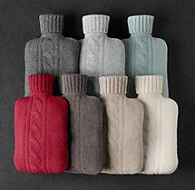 Hot Water Bottle (Cashmere Cover)