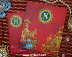 An Attractive antique King Style Indian Traditional Wedding card with Gold Logo is a Royal and Elegant. Scroll Wedding Invitations, Indian Wedding Invitation Cards, Indian Wedding Cards, Creative Wedding Invitations, Wedding Invitation Design, Wedding Stationery, Custom Invitations, Invites, King Style