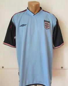 3e636ffac1f England 2002 2003 2004 goalkeeper football shirt by Umbro UK NT  NationalTeam blue jersey