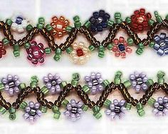Zig-zag daisy chain (pattern on website)