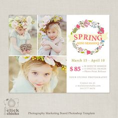 Spring Mini Session Template for Photographers  by ClickChicksDesigns